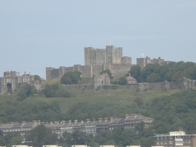 Along Dover's cliffs I saw numerous castles and keeps.
