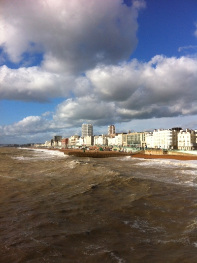 Over Halloween and the following weekend, I was in Brighton for World Fantasy Con. This is a view of the seafront from the pier.