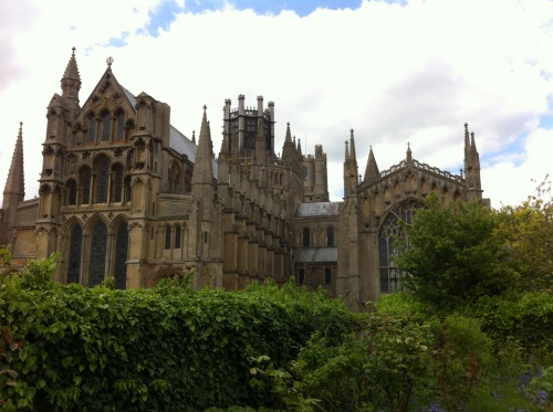 Ely Cathedral, viewed from the back where there is a lovely cafe/tea house with garden seating. And baby ducks waddling around. For whatever reason, Ely is a 'city' because it has a cathedral. Bury St Edmunds, however, is only a town. Go figure.